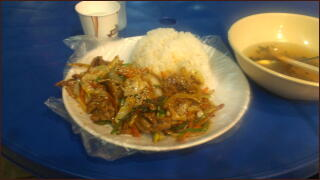キムチ肉炒めライス